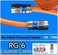 RG6 PCT F White Coaxial Coax 1 - 75 Ft Cable Wire Satellite HD Antenna TV lot