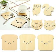 Wooden Bread Toast Drinks Cup Insulation Mat Pad Coaster Home Table Decor PICK