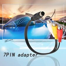 S-Video 7 Pin to 3 RCA Female RGB Component Cable Adapter for DVD TV/HDTV !W