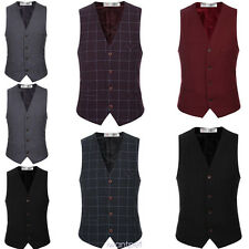 New Men Formal Casual Tuxedo Suit Dress Vest Waistcoat Wedding Prom