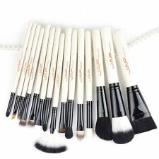 15pcs/set Portable Size Women Facial Makeup Brushes Wooden Handle Brushes Tool G