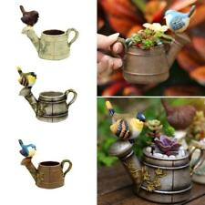Miniature Bird and Flower Pot Dollhouse Bonsai Garden Micro Landscape Decor