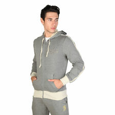 MENS TRUSSARDI MARL GREY HOODED JERSEY TOP WAS £105 SIZE XL LEFT