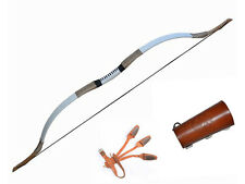 40~50 Lb Traditional Longbow Recurve Bow Set--Bow+Arm Guard+Finger Gloves