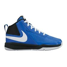 Nike Team Hustle D-7 JUNIOR BOY'S BASKETBALL SHOES,BLUE/WHITE-Size US 11,12 Or13