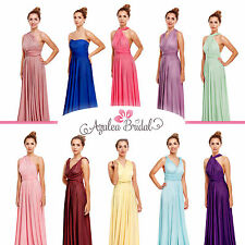 New Maxi Twist Wrap Multiway Convertible Bridesmaids Prom Dress