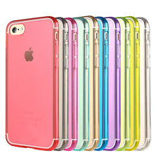 iPhone 5 5S SE Purple Pink Red Blue Green Black Yellow Colour Case Cover Z-TECH