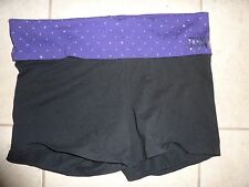 """VICTORIAS SECRET PINK BLING """"PINK"""" YOGA SHORTIE FOLD OVER SHORTS NWT"""