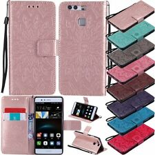 3D Flower Flip Leather Wallet Stand Card Case Cover For Huawei Ascend P8 P9 Lite