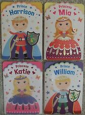 Personalised Prince & Princess Girls Boys Birthday Cards Lots of Names Available