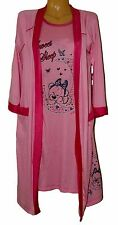 Ladies MATCHING SET Nightdress and Dressing Gown Stretch Robe Night Shirt Top