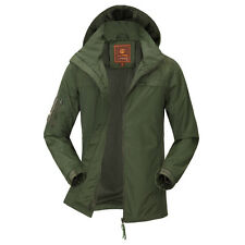 Men Soft Shell Military Jacket Outdoor Waterproof PARKA Hooded  Coat Windbreaker