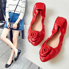 Women Leather Moccasin Shoes Flat Travel Pumps Loafers Handmade Flower Dance Hot
