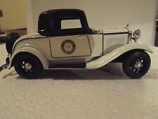1932 3 window California Highway Patrol Ford coupe  1/32 die cast model