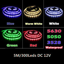 12V Waterproof 5M 5630 5050 3528 Led Strip SMD Leds Flexible Lights Lamp Tape