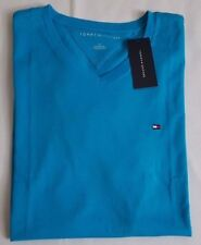 NWT TOMMY HILFIGER MEN'S T-SHIRTS V-NECK SHORT SLEEVE FLAG LOGO ON CHEST