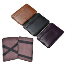 New Luxury Magic Wallet money clip credit card holder ID business men leather NG