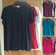 Evans New Black White Grey Red Pink Purple Green Plus Size V Neck Tee Tshirt Top