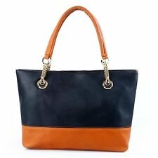 Hot Women Leather Tote Bags Casual Candy Color Shoulder Summer Bags Large Black