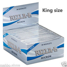 Rizla Micron King Size Ultra Thin Rolling Papers Silver - 1,5,10,20,50 Booklets