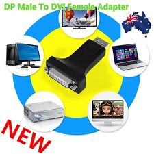 DP Display Port Male to HDMI/DVI 24+5 Female Converter Adapter For Laptop BU