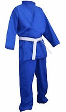 KARATE SUIT -- BLUE -- FREE BELT  All Sizes  --Less than Half Price--