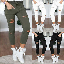 2017 Fashion Women Lady Girl Casual Tights Stretch Skinny Pants Jeans Trousers