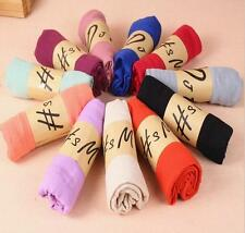 Womens Long Candy Colors Soft Cotton Scarf Wrap Shawl Scarves Fashion Stole New.