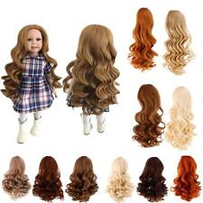 High-temperature Wire Wavy Curly Hair Wig for 18inch American Girl Dolls