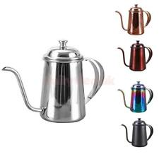 Stovetop Gooseneck Tea Coffee Kettle Stainless Steel Hot Water Pot 650ml 5 Color