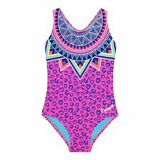 Pineapple Kids Girls' Pink Leopard Print Swim Suit From Debenhams