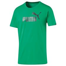 Puma MENS ESSENTIAL NO-1 LOGO TEE Regular Fit LIME - Small, Medium, Large Or XL