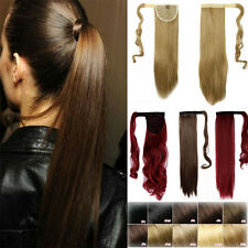 Real Lady Thick Clip In as Human Hair Extensions Ponytail Wrap On Ponytail Long