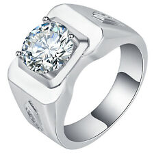 2.2CT Fashion Jewelry 925 Silver White Topaz Engagement Ring Gift Size 6-10 Man