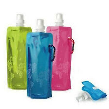 New Environmental Foldable Portable 480ml Sport Water Bottle Cup Bag for Hiking