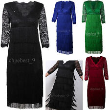 Vintage Style 1920s Flapper Dress Gatsby Cocktail Prom Formal Evening Costumes