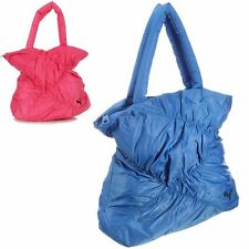 Womens Puma Dizzy Shopper Bag Blue Pink Ladies Sporty Shoulder Bag Ruched NEW