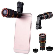 12X Zoom Magnifier Optical Telescope Camera Lens w/Clip for iPhone 7 Samsung HTC