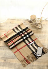 *NEW* 100% CASHMERE BRAND NEW AUTHENTIC BURBERRY SCARF CAMEL CHECK*