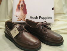 Men's size 10 W Antique Brown Leather Hush Puppies Mall Walker Shoes