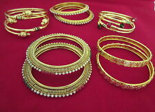 Indian Bollywood Traditional Bridal Combo Of Gold Plated Fashion Jewelry Bangles