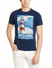 Pepe Jeans Dk-Denim Printed Round Neck Cotton Short Sleeves T-Shirt