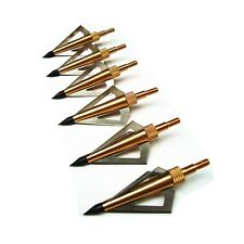 12Pk Archery Hunting 3 Blades Broadheads 125 Grain For Crossbow And Compound Bow