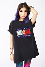 Aaliyah Baby Girl Over Sized Ladies Hip Hop R&B Rock The Boat T-Shirt