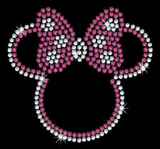 """""""Minnie Mouse - Bow"""" -  Bling Iron-on Rhinestone Transfer"""