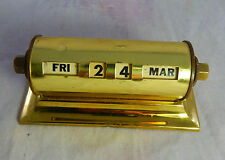 Vintage Marked Park Sherman Brass Perpetual Day/Date Desk Calendar Made in USA