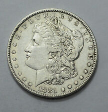 1881-P  Morgan Dollar RARE Key Date Silver Old Coin US Mint, NO RESERVE!