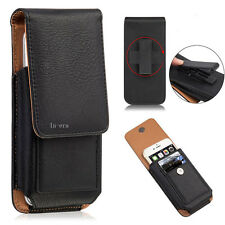 Leather Vertical Case for Apple iPhone 6/7/8 Plus Cover Pouch+Holster Belt-Clip