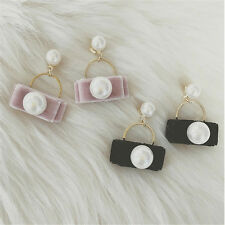 1Pair Design Velvet Pearl Stud Earrings Earring Cute For Women Earrings Pearl