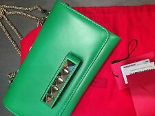 VALENTINO VA VA VOOM GREEN LEATHER CHAIN SHOULDER BAG NEW WITH TAGS!!!